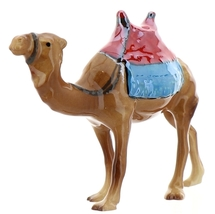 Hagen-Renaker Specialties Ceramic Animal Figurine Saddled Camel with Blanket