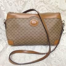 Vintage, Rare, Gucci, Brown Mono Clutch-Shoulder Bag 12in x 7in x 3.5in - $284.95