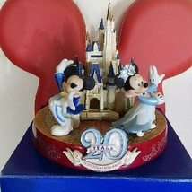 Tokyo Disneyland 20th Anniversary Cinderella Castle Ornament Mickey Minnie Mouse - $234.63