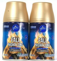 2 Cans Glade 6.2 Oz Limited Edition Fall Night Long Automatic Spray Refill - $29.99