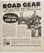 1949 Print Ad Behler Gear Box John Deere Tractors Columbus,Nebraska - $11.86