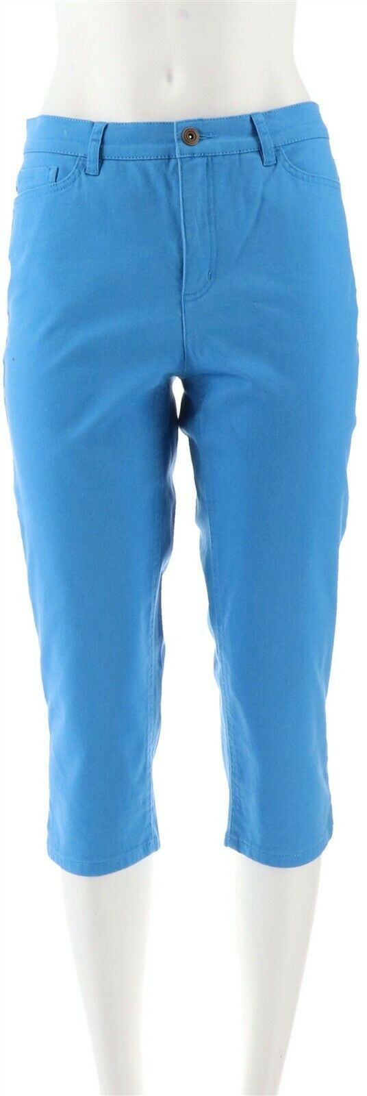 Primary image for Denim & Co How Modern Capri Pant Deep MarineBlue 4 NEW A291663