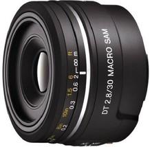 Sony SAL30M28 Single Focus Macro Lens Macro SAM APS-C DT 30mm F 2.8 Compatible - $204.01