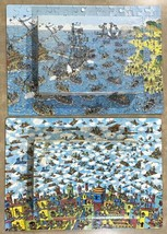 Vintage Wheres Waldo 2 Puzzle Lot - Being A Pirate & The Carpet Flyers C... - $29.44