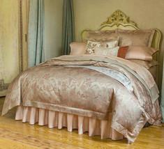 Sferra Bellanca Duvet Cover Full Queen Nougat Egyptian Cotton Sateen Italy New - $328.90