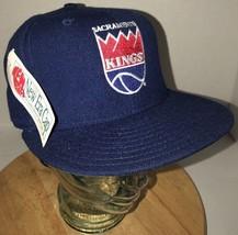 VTG SACRAMENTO KINGS 80s 90s USA Wool New Era Hat Cap NBA 7 1/8 USA 5950... - ₹6,792.17 INR