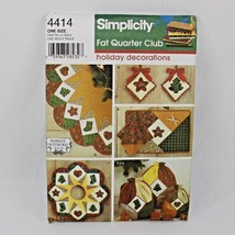Holiday Decorations Simplicity Fat Quarter Club Craft Pattern 4414 Ornaments  - $7.99