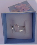 Silver Sterling 925 Kitty Cat Ring NIB Size 6 - $13.99