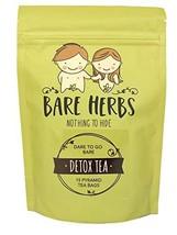 Bare Herbs Detox Tea, Herbal Cleanse – Green Tea, Oolong, Dandelion, Ginger, Goj