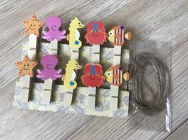 60pcs Ocean Animals Children's Party Gift Favors,Paper Clips,Pegs,Clothe... - $11.50