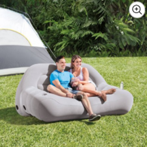 Outdoor Inflatable Sofa Portable Camping Couch Wide Seating Lounge Water... - $64.86