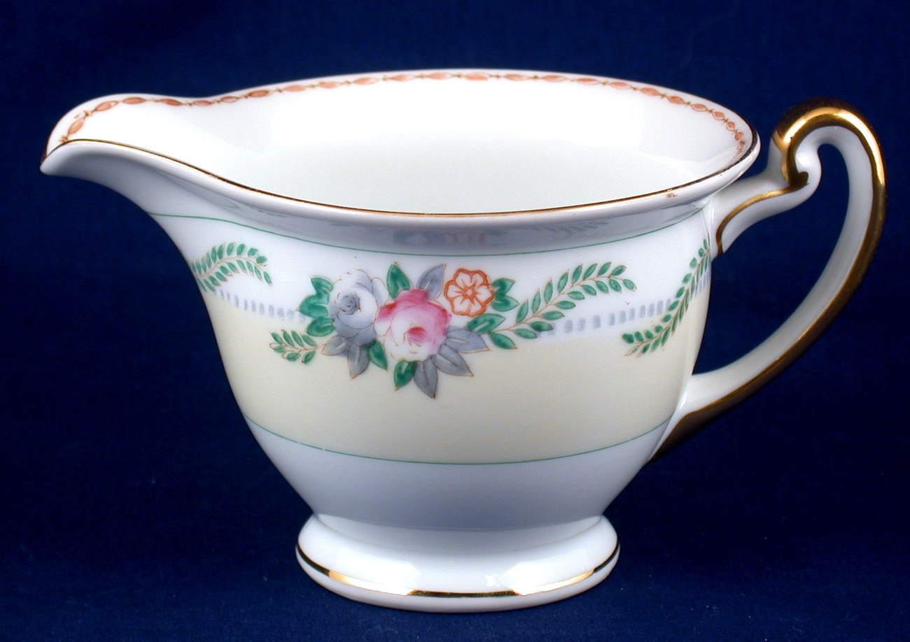 Meito China Vintage Floral Spray Creamer Hand Painted Japan