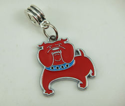 Red BULL-DOG Spacer For A Bracelet **Combined Shipping** (1479) - $2.50