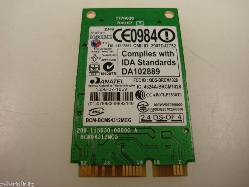 IBM Lenovo BCM94312MCG 43Y6489 N500 4233 G530 802.11bg Wireless Mini PCI-E Card
