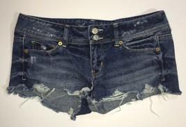 Womens American Eagle Distress Cuttoff Shorts Jean Size 4 - $8.79