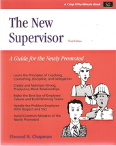 The New Supervisor by Elwood N. Chapman 1560521201 - $5.00