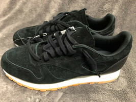 NWT Men's Size 11 Reebok Black Suede Classic Sneakers Shoes - $64.34