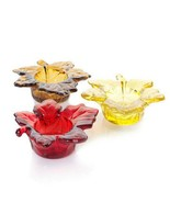 Yankee Candle Votive Candle Holders YCF291 Glass Autumn Colors ~ Set of 3
