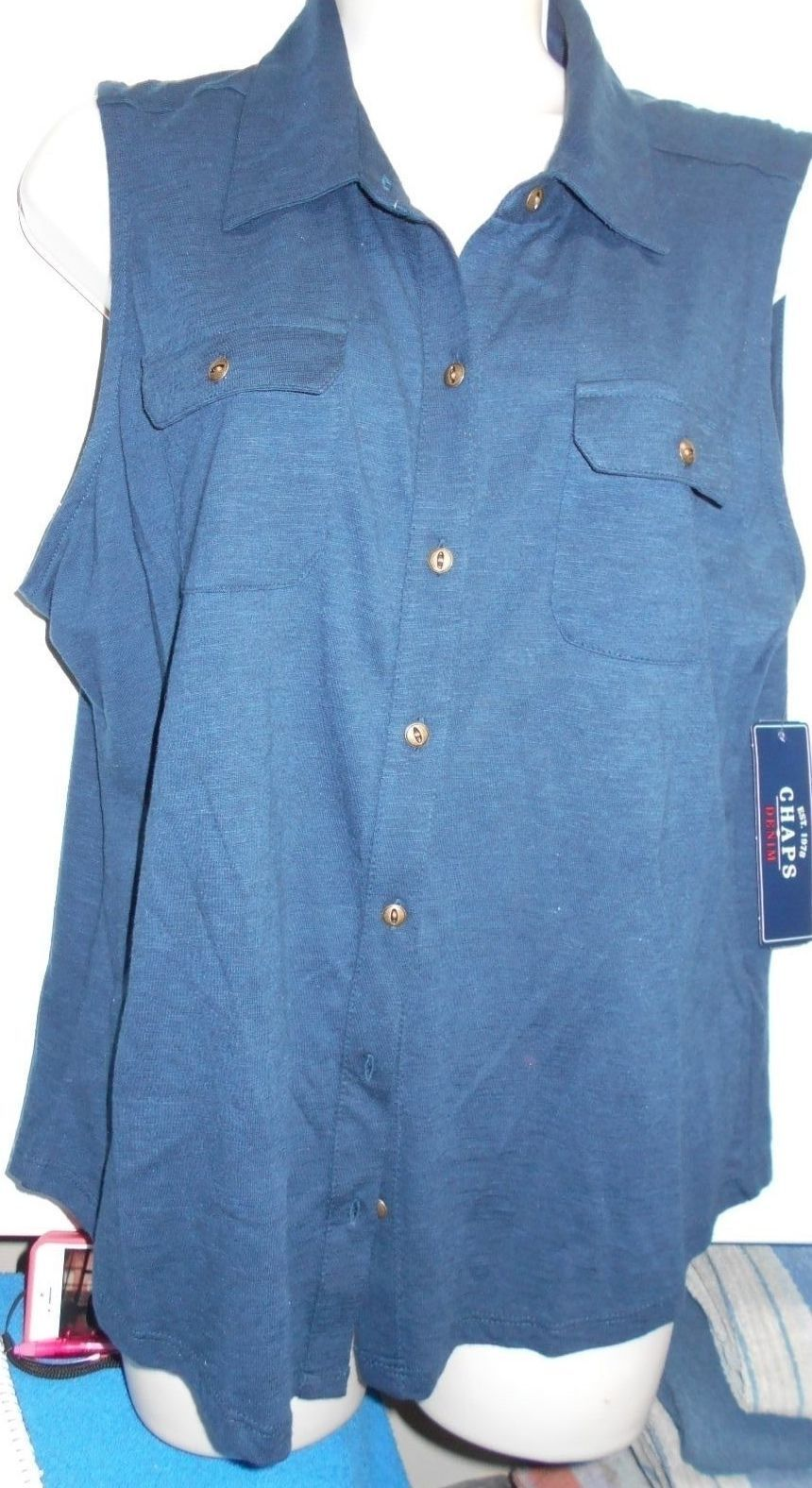 Primary image for New Chaps Womens Sz XL Vneck Tunic Shirt Retails $49 Southwest