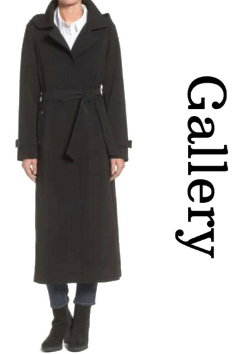 Primary image for $328 Gallery Full Length Nepage Raincoat Petite Large PL Black P12 P14 Hooded