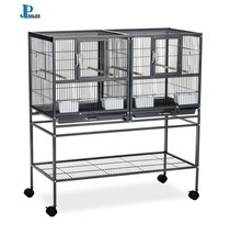 Bird Hampton Deluxe Divided Breeder Double Cage With Stand Prevue Pet Pr... - £153.42 GBP