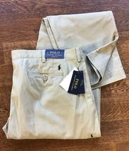 Ralph Lauren Men's Straight Classic Fit Chino Khaki Beige Pants 42 X 34 - $64.00