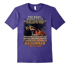 The Devil Whispered In My Ear Born In December T shirt gifts Men - $17.95+