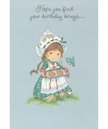Vintage Birthday Card Dutch Girl Bakes Cookies Hallmark Charmers Unused ... - $7.91