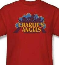 Charlie's Angels T-shirt logo retro 70's 80's TV series red graphic tee CA113 image 2