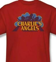 Charlies Angels T-shirt logo retro 70s 80s TV series red graphic tee CA113 image 2