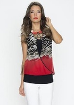 Picadilly Go Rouge Exotic Salsa Tank w/ Crossover Overlay -  NOW EXTRA 1... - $32.90