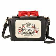 Disney Store Alice Red & Black 2way shoulder tote bag Trump Black Japan ... - $64.35