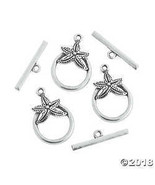 Silvertone Starfish Toggle Clasps - $7.49