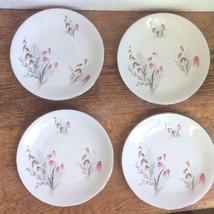Vintage Royal Duchess Bavaria Mountain Bell Pattern 4 Bread & Butter Plates - $11.87