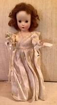 Vintage 1950's made in U.S.A. DOLL Bride bridal Wedding Dress Plastic 14... - $75.00