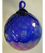 Glass Eye Studio HANDBLOWN ART GLASS Ball Colbalt Blue  - $26.95