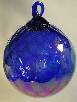 Glass Eye Studio HANDBLOWN ART GLASS Ball Colbalt Blue