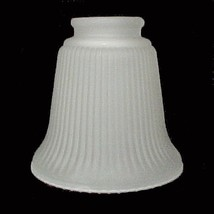 Ribbed Bell Frosted Glass 2 1/4 Light Shade Ceiling Fan Wall Sconce Chandelier - $9.95