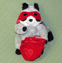 Hallmark Raccoon EXPRESSIONS Wanted For Stealing Hearts Red Mask Sac Plu... - $17.72