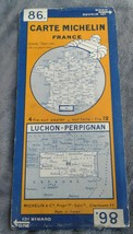 Vintage MICHELIN 86 Luchon - Perpignan France Fold Out Road Map - $27.09