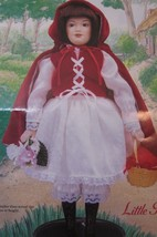 "DANBURY MINT  Porcelain Doll  10"" STORYBOOK  LITTLE RED RIDING HOOD - $31.19"