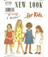New Look Sewing Pattern 6739 Girls Dress Size 3 4 5 6 7 8 New Uncut - $9.98
