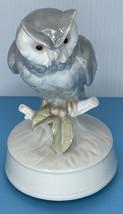 Otagiri Moonlight Sonota Owl Musical Figurine Music Box Hand Crafted Japan - $15.79