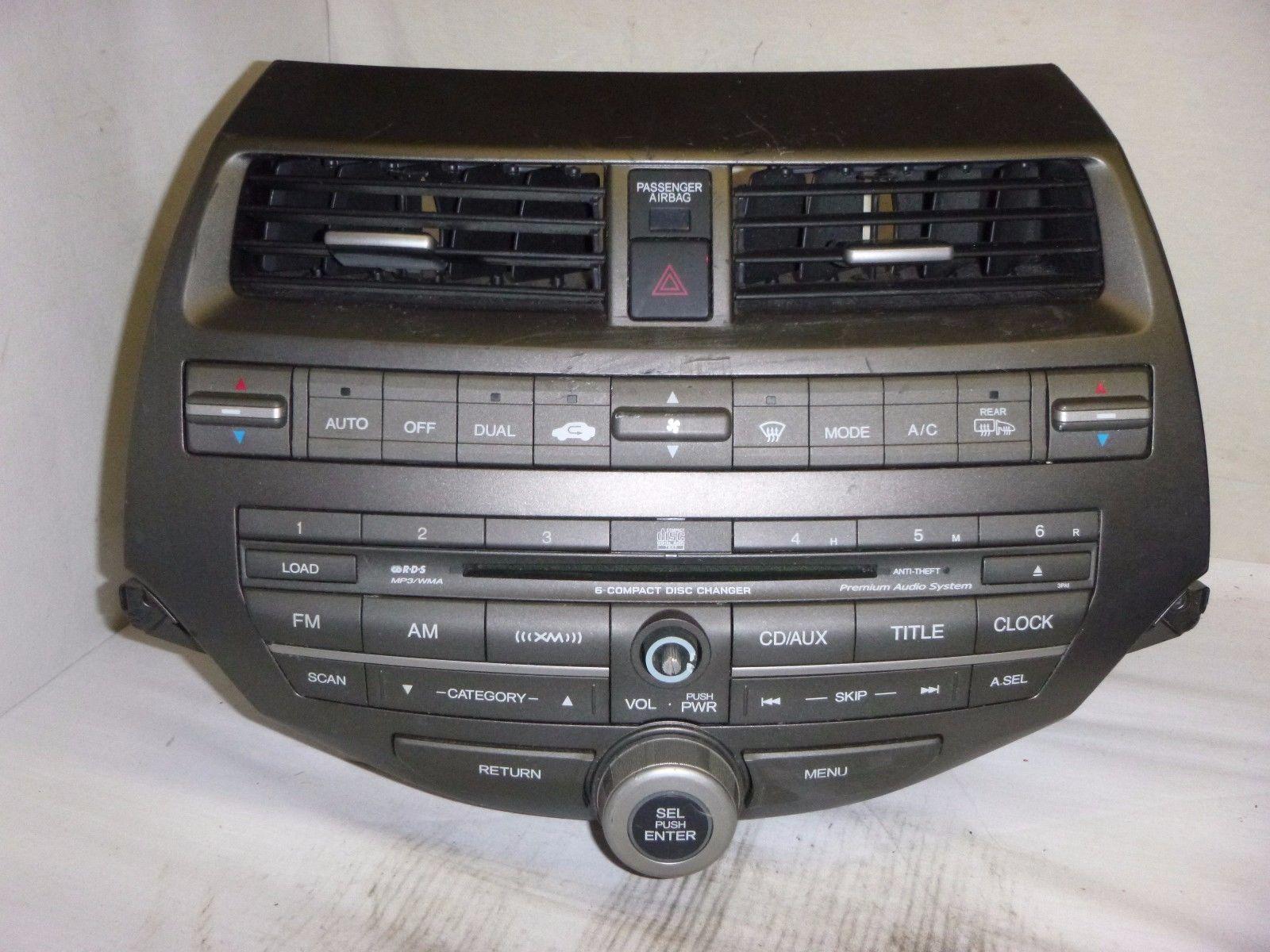 08 09 10 Honda Accord Premium Radio 6 Cd Mp3 & Code 39101-TA0-A620 3PA1 T9112