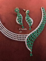 Indian Bollywood Ethnic Wedding Partywear Cz Fashion Earrings Necklace Set zm820 - $71.69