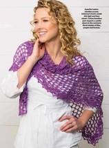 Z486 Crochet Pattern Only Lilac Dreams Shawl Wrap Pattern - $7.50