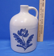 Pfaltzgraff Yorktowne Shoulder Jug Crock Vase Blue Flower Pattern 563Y S... - $11.87