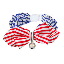 Cat Collar With Bell Multicolour Polka Dot Striped Pet Bowtie Fashion Ac... - $11.99