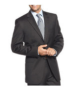 NEW MENS JONES NEW YORK CHARCOAL 100% WORSTED WOOL SPORT COAT SUIT JACKE... - $59.99