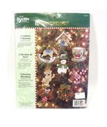 Mary Engelbreit Jeweled Felt Christmas Collection Ornament Kit 85190 Gin... - $38.65